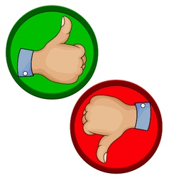Hand gesture like unlike with thumb up icon vector image