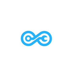 Infinite fix and repair logo icon design vector