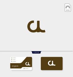 Initial cl lc c or l premium creative logo vector