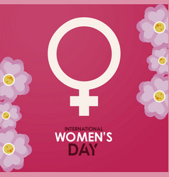 International womens day celebration poster with vector