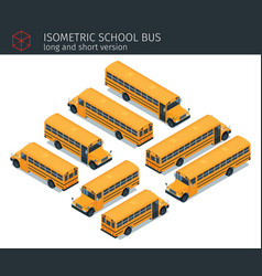 isometric school bus vector image