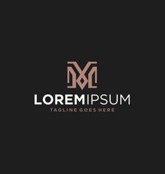 m leader logo design inspiration vector image