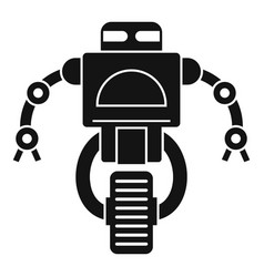 Machine robot icon simple style vector