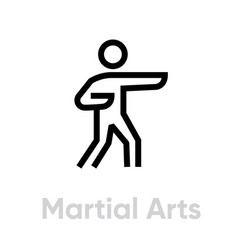 martial arts activity icon vector image