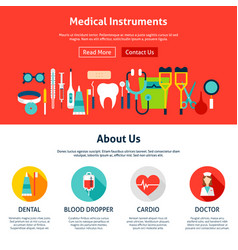 medical instruments website design vector image