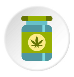 medical marijua bottle icon circle vector image