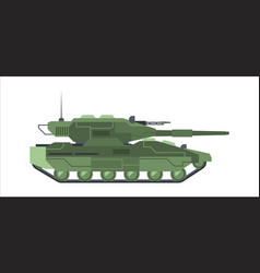 military modern camouflage tank heavy armored vector image