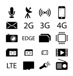 Mobile phone specification icon collection vector