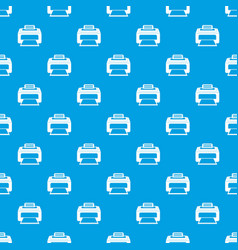 Modern laser printer pattern seamless blue vector