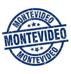 Montevideo blue round grunge stamp vector