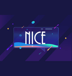 Nice in design space banner template for vector