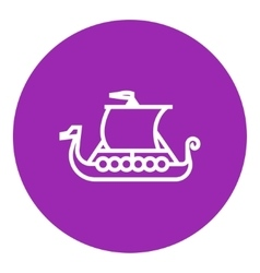 Old ship line icon vector image