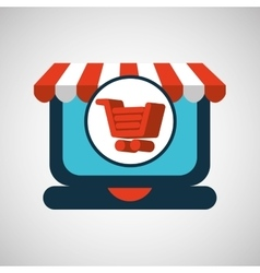 Online shopping cart concept vector