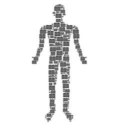 open book human figure vector image
