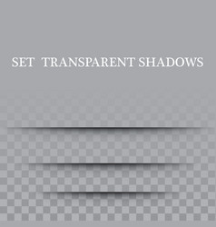 paper set sheet shadow effect transparent vector image