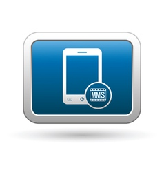 Phone icon with mms menu vector image