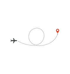 plane way icon airplane circle ring path vector image