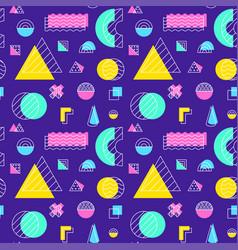 purple memphis seamless pattern vector image