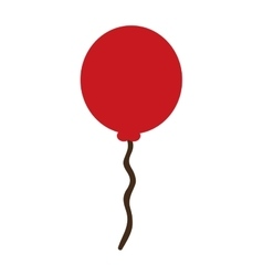 Red balloon decoration vector