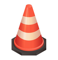 repair traffic cone icon isometric style vector image