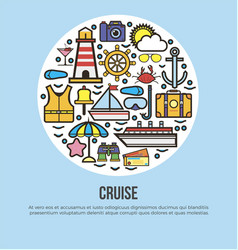 sea cruise travel or summer ocean vacation vector image vector image
