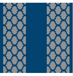 Seamless blue tire track knitting vector