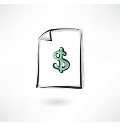 securities grunge icon vector image