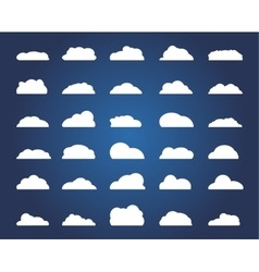 set different cloud vector image