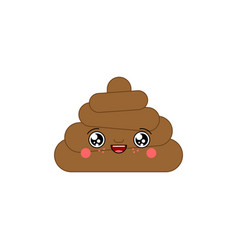 shit kawaii cute cartoon funny poop sweet turd vector image