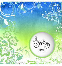 spring background texture vector image