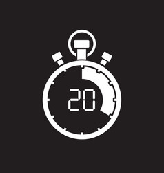 stopwatch twenty minute vector image