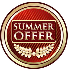 summer offer icon vector image