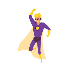 super hero family daddy or father flat cartoon vector image