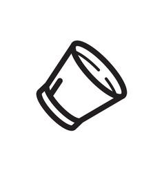 Thin line dog cone icon vector
