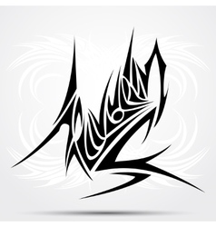Tribal tattoo abstraction vector image