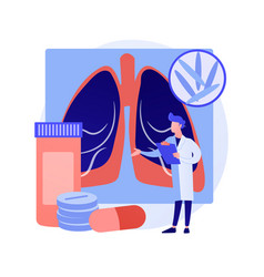 Tuberculosis abstract concept vector