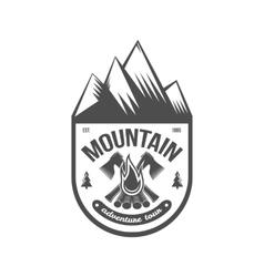 Vintage mountain explorer labels badge or logo vector image