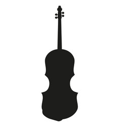 Violin silhouette music instrument vector