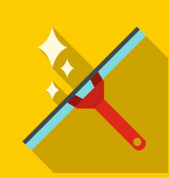 Window squeegee icon flat style vector