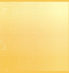 Yellow dotted background with scratches vector