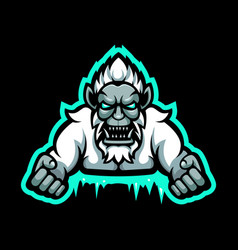 Yeti mascot logo vector
