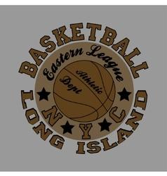 basketball fashion Typography sport vector image vector image