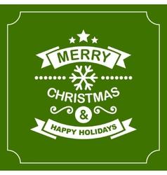 Christmas Retro Typographic Background vector image vector image