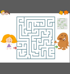 maze leisure game vector image vector image