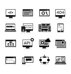 Programming Icons Black vector image