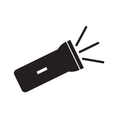 flashlight icon on white background flat style vector image vector image