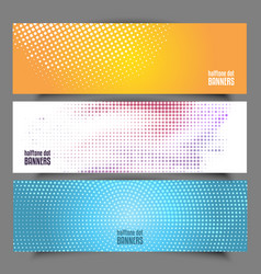 halftone dot banners vector image vector image