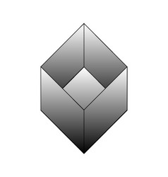 Isometric object- architectural logo vector image vector image