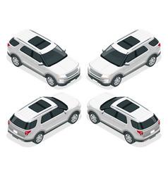 off-road write car modern vip transport flat 3d vector image vector image