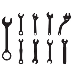 screw wrench vector image vector image